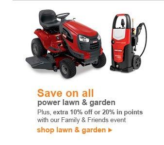 Save on all power lawn & garden | shop lawn & garden
