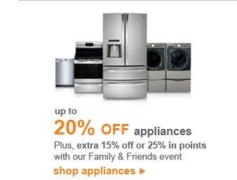 up to 20% OFF appliances | shop appliances
