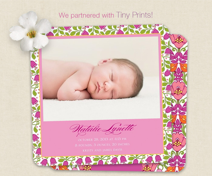 We partnered with Tiny Prints
