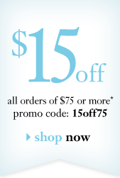 $15off all orders of $75 or more* promocode: 15off75