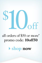 $10off all orders of $50 or more* promocode: 10off50