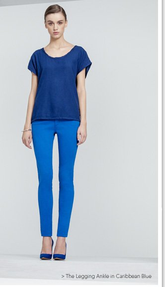 The Legging Ankle in Caribbean Blue
