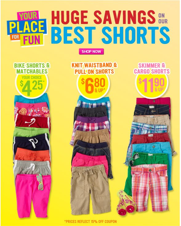 Huge Savings On Our Best Shorts!