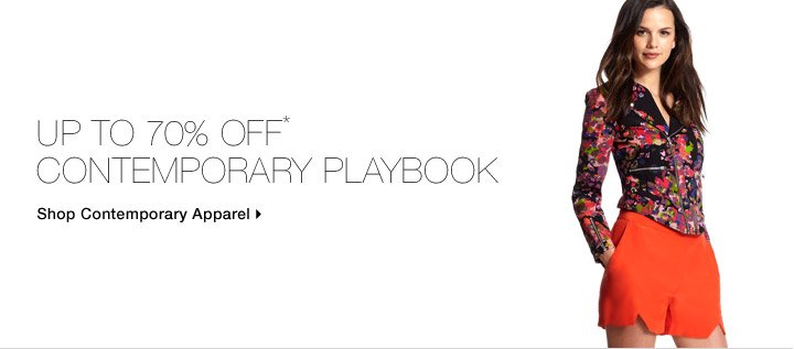 Up To 70% Off* Contemporary Playbook