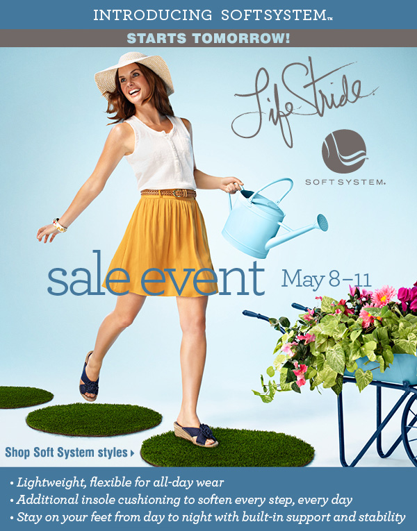 Life Stride Sale Event Starts Tomorrow! Shop Soft System styles.