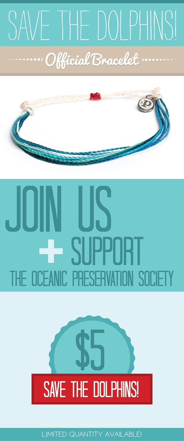Save The Dolphins Bracelet Now Available
