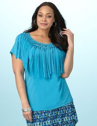 Vivid Blue Frill Seeker Top