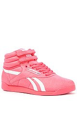 The FS Hi TXT Sneaker in Coral Contrast and White
