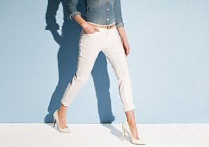 Casual White: Denim & Tops