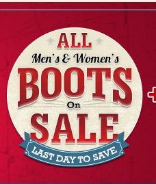 All Mens and Womens Boots on Sale