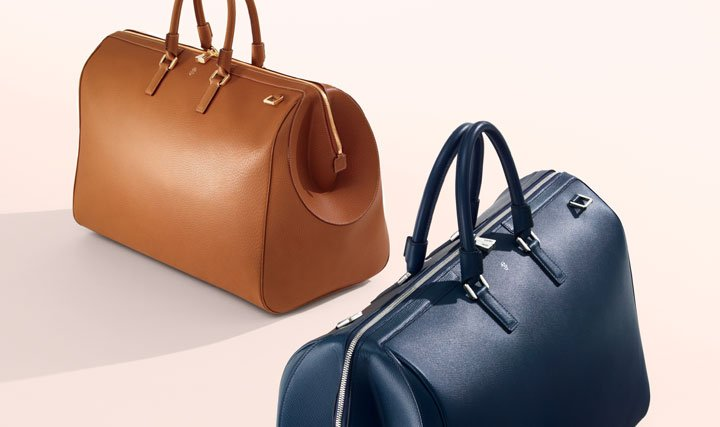 Bring a little luxury to your travel routine: Shop bags from Serapian and more.