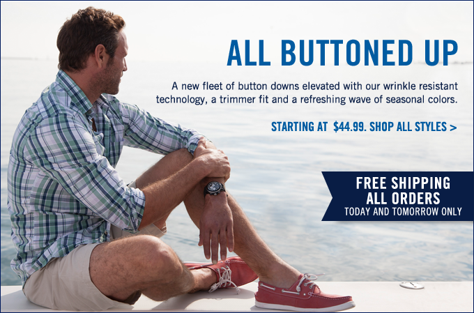 All Buttoned Up! Shop button downs and enjoy free shipping on all orders today and tomorrow!