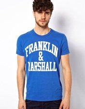 Franklin & Marshall T-Shirt with Logo Print