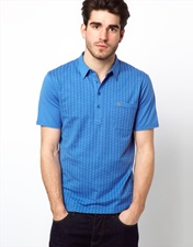 Farah Vintage Polo with Dot Jaquard Front