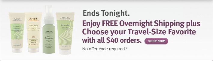 Enjoy FREE OVERNIGHT SHIPPING plus FREE Travel-Size Favorite with all orders over $40.
