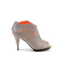 Mosaic Peeptoe | Grey Neon Orange