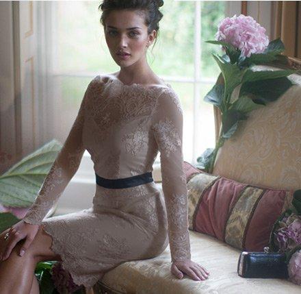 V I P Lace Shift Dress