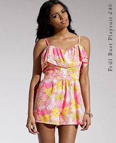 Frill Bust Playsuit