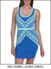 Shop the Geo Embellished Dress