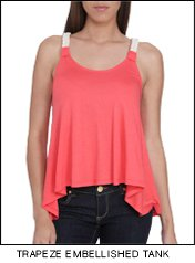 Shop The Trapeze Embellished Tank