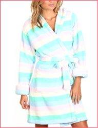 Hood plush gown