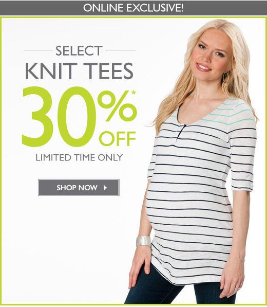 30% off Select Knit Tees