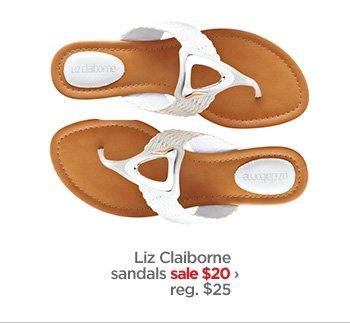 Liz Claiborne sandals sale $20› reg. $25
