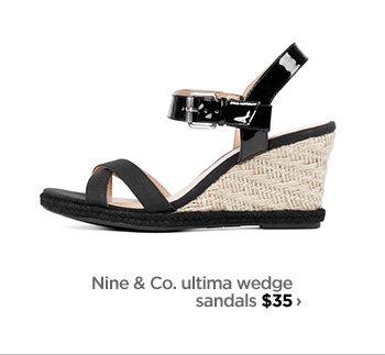 Nine & Co. ultima wedge sandals $35›