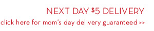 NEXT DAY $5 DELIVERY click here for mom's day delivery guaranteed.