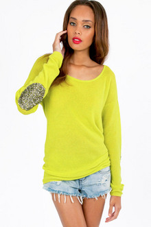 Shine Patch Sweater $49