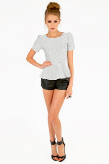Playtime Peplum Top $30