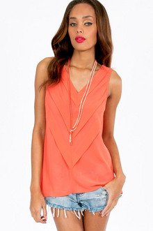 Pretty Pleats Tank Top $30