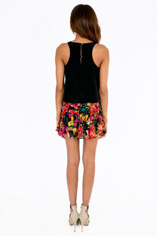 Frienemy Floral Skater Skirt $28