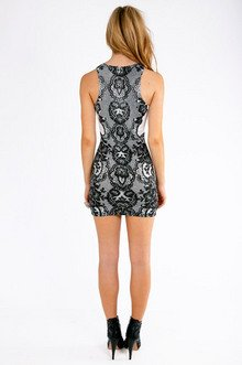 Jamila Lace Print Dress $32