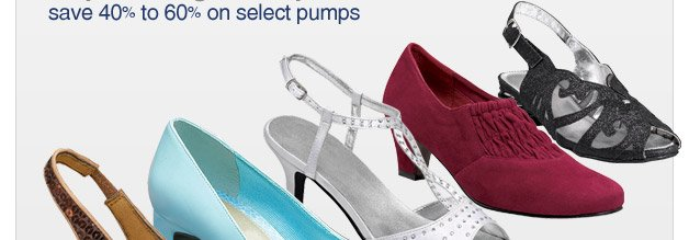 this sale will get you pumped - save 40 to 60% on select pumps