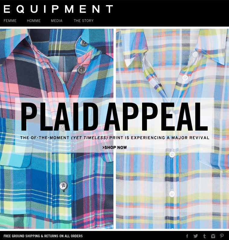 PLAID APPEAL THE OF-MOMENT (YET TIMELESS) PRINT IS EXPERIENCING A MAJOR REVIVAL >SHOP NOW