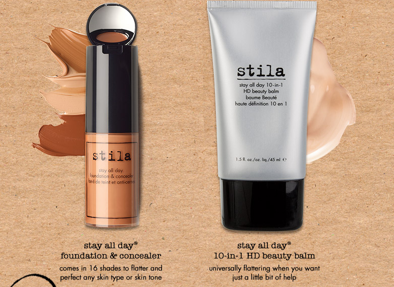 whether you want a light touch ofcoverage or matte perfection, stilahas a stay all day formula for you.