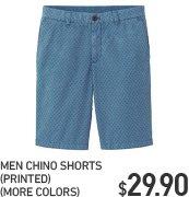 MEN CHINO SHORTS PRINTED