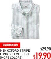 MEN OXFORD STRIPE SHIRT