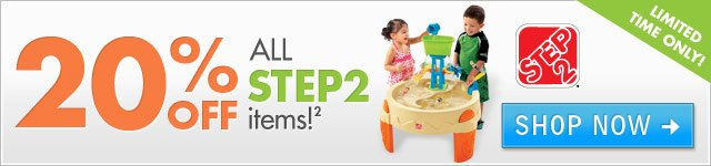 20% OFF Select Step2 Products