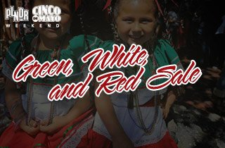 Green, White, and Red Sale