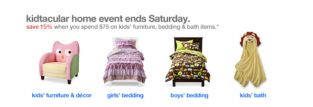 Kidtacular home event ends Saturday.