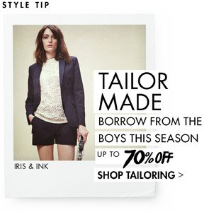 BORROW FROM THE BOYS UP T0 70% OFF