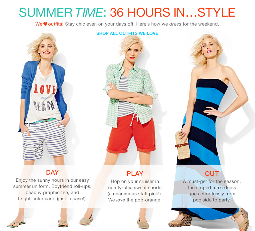 SUMMER TIME:  36 HOURS IN...STYLE | SHOP ALL OUTFITS WE LOVE