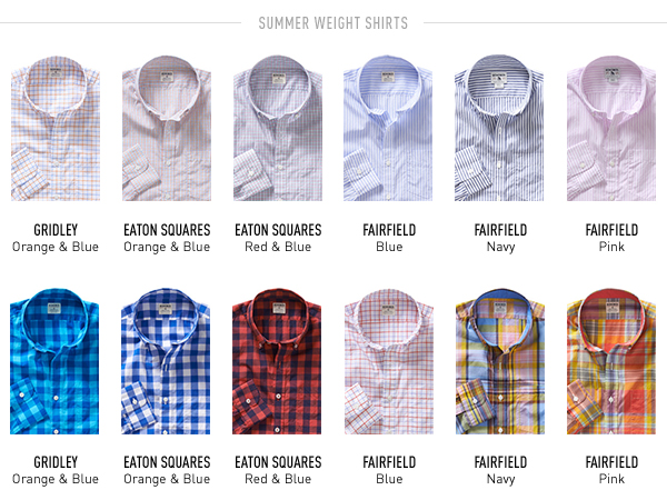 Summer Weight Shirts
