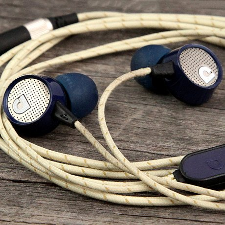 Audiofly AF56 In-Ear Headphone with Mic // Blue Tweed