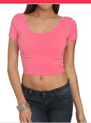 Shop Crop Scoop Neck Tee