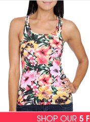 Shop Tropical Racerback Tank