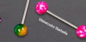 WATERCOLOR BARBELLS