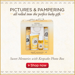 Pictures and Pampering, All rolled into the perfect baby gift. Shop Now
